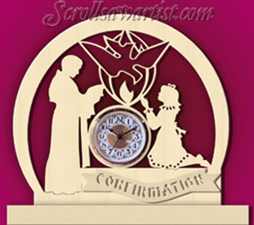 Confirmation clock, girl  (CL099)