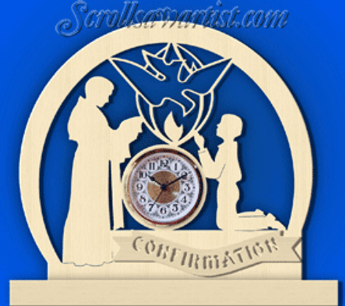 Confirmation clock, boy  (CL100)
