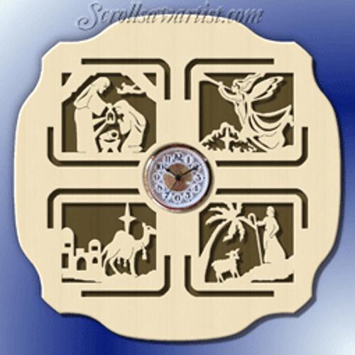 Nativity clock  (CL135)