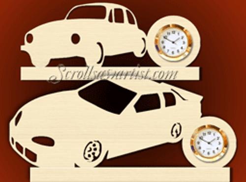 Two car mini clocks  (CL145)