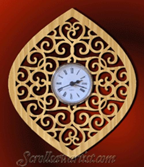 Victorian fret wall clock  (CL161)