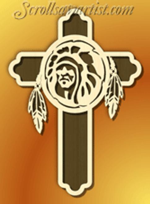 Native American cross (WE024)