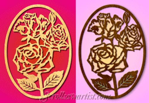 Roses plaque (FL006)