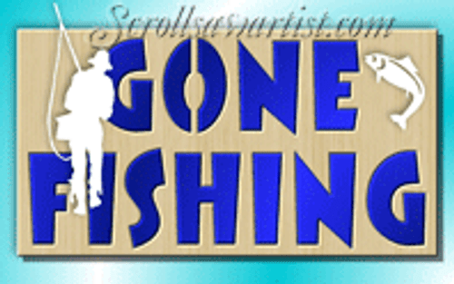 Gone fishing plaque (NA028)