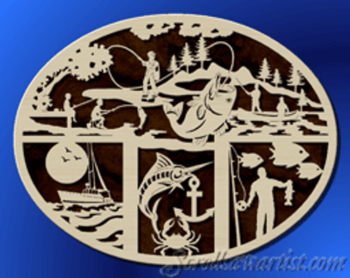 Fishing plaque (NA044)