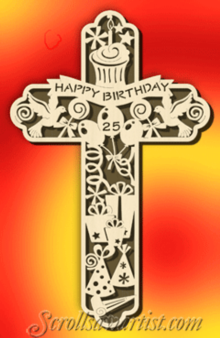 Birthday cross (CE058)