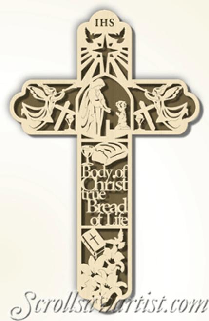 First Communion cross (CE050)