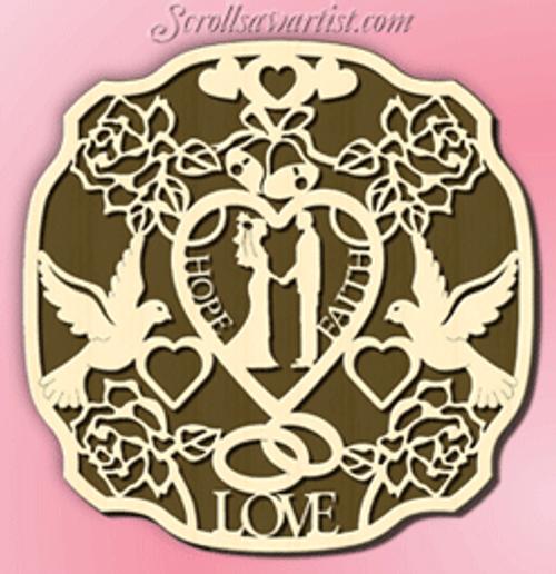 Wedding plaque (CE051)