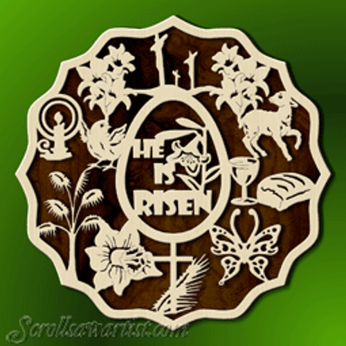 Easter symbols plaque (RE378)