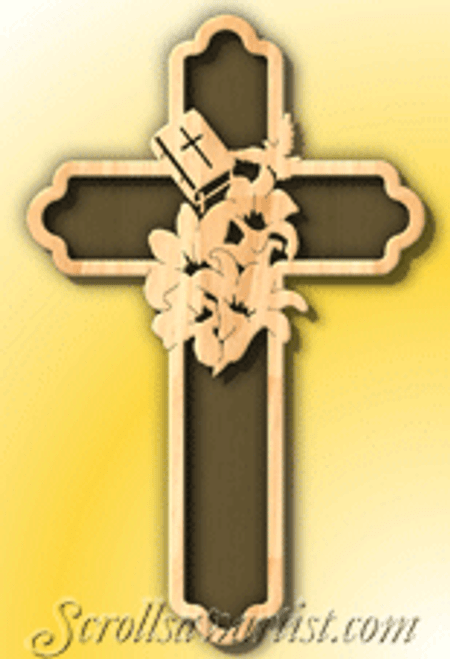 Lilies cross  (RE169)