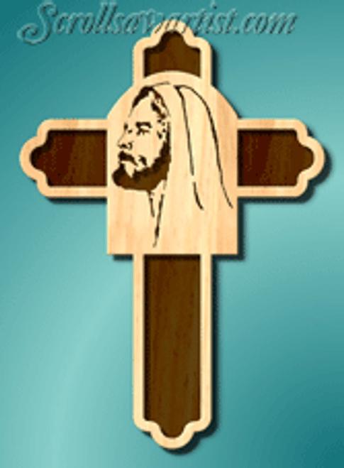 Jesus portrait cross #3 (RE214)