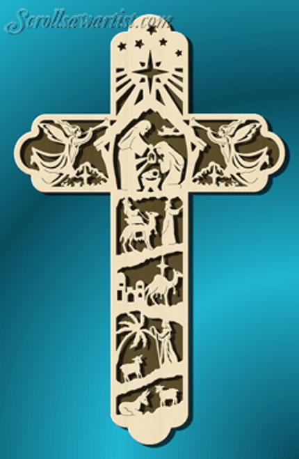 Nativity cross (RE085)