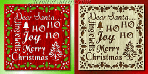Christmas words plaque (NW022)