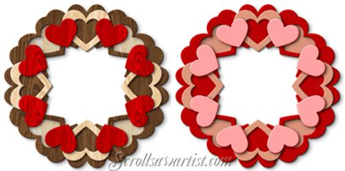 Hearts wreath (NW087)