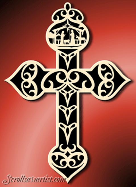 Nativity cross (NW579)