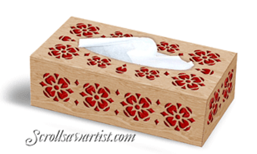 Flowers tissue box cover (NW668)