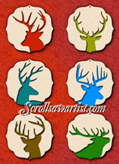Deer ornaments (NW1364)