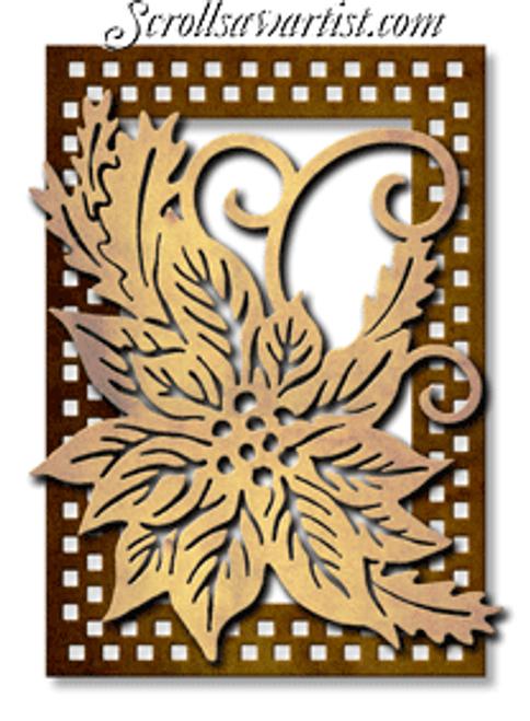 Poinsettia plaque (NW1382)