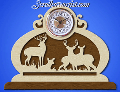 Deer clock (NW1612)