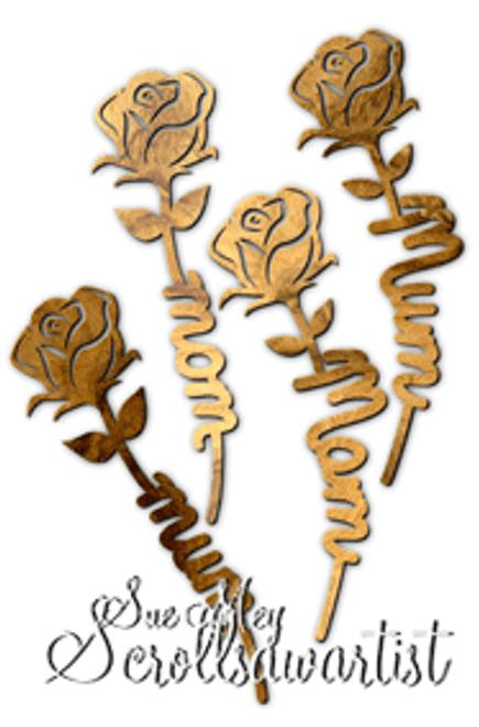 Mom/Mum stemmed roses