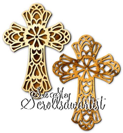 Hearts flower cross