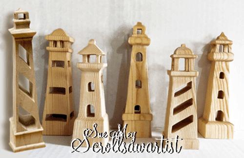 Compound-cut lighthouses