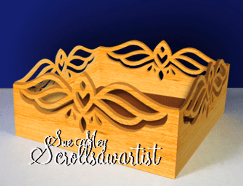 Open box - fretwork sides #3