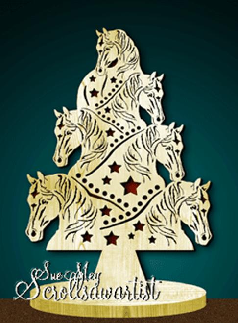 Horses tree on base