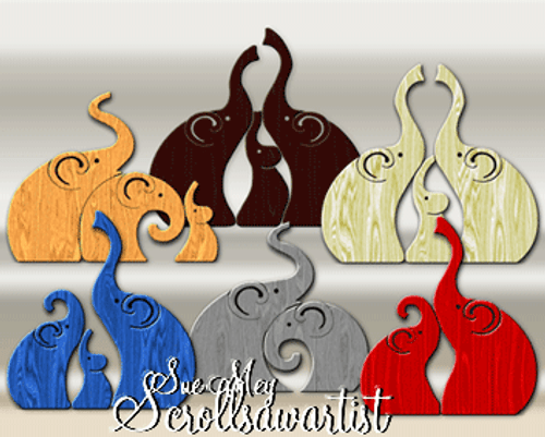 Elephant caricatures