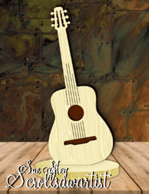 Guitar on base