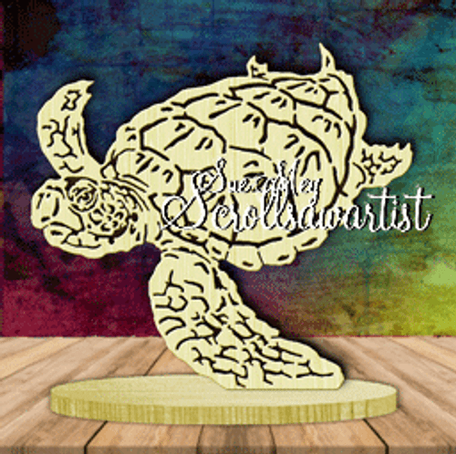 Sea turtle on base