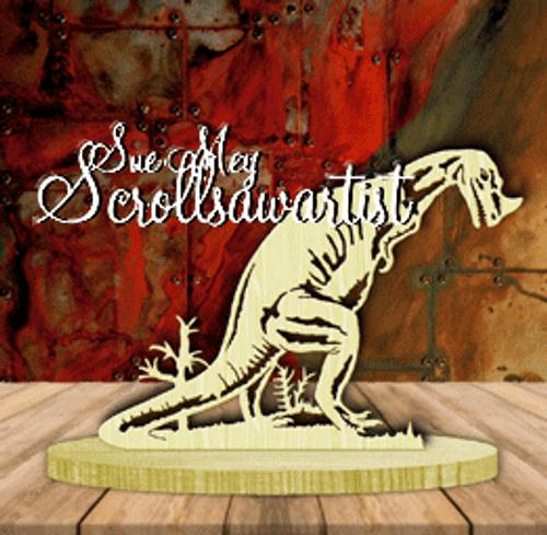 Dinosaur - Ceratosaurus on base