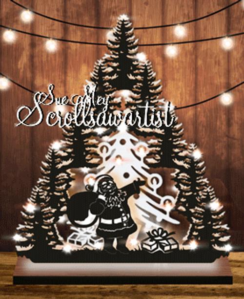 Santa with sack tree