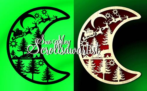 Crescent moon - Christmas #2
