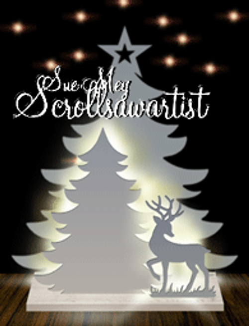 Lighted two-layer tree - Deer