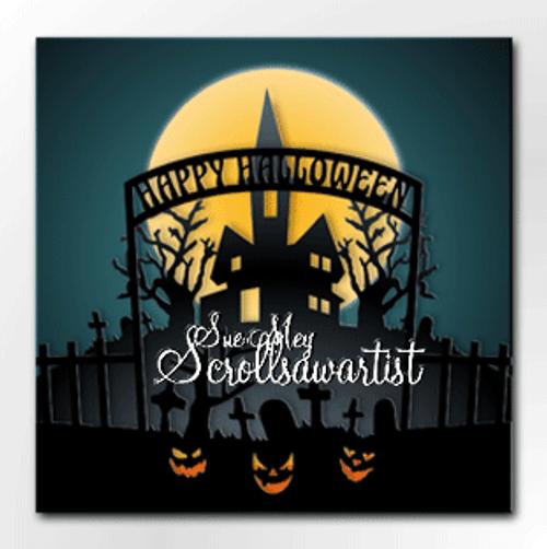 Layered Halloween scene