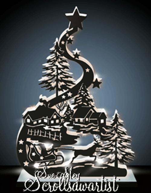 Lighted Santa sleigh #3