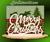 Merry Christmas serviette holder (NW2310)