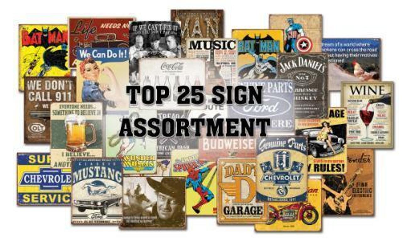 Top 25 Sign Assortment