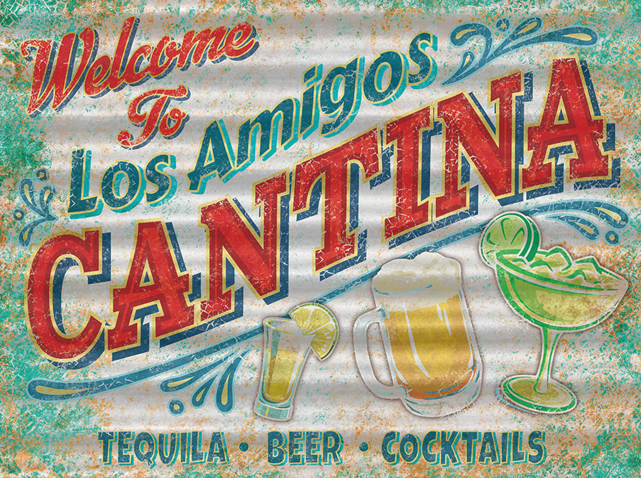 Corrugated - Cantina Sign