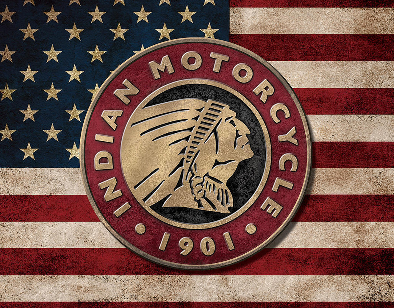 Indian Motorcycles Indian Flag