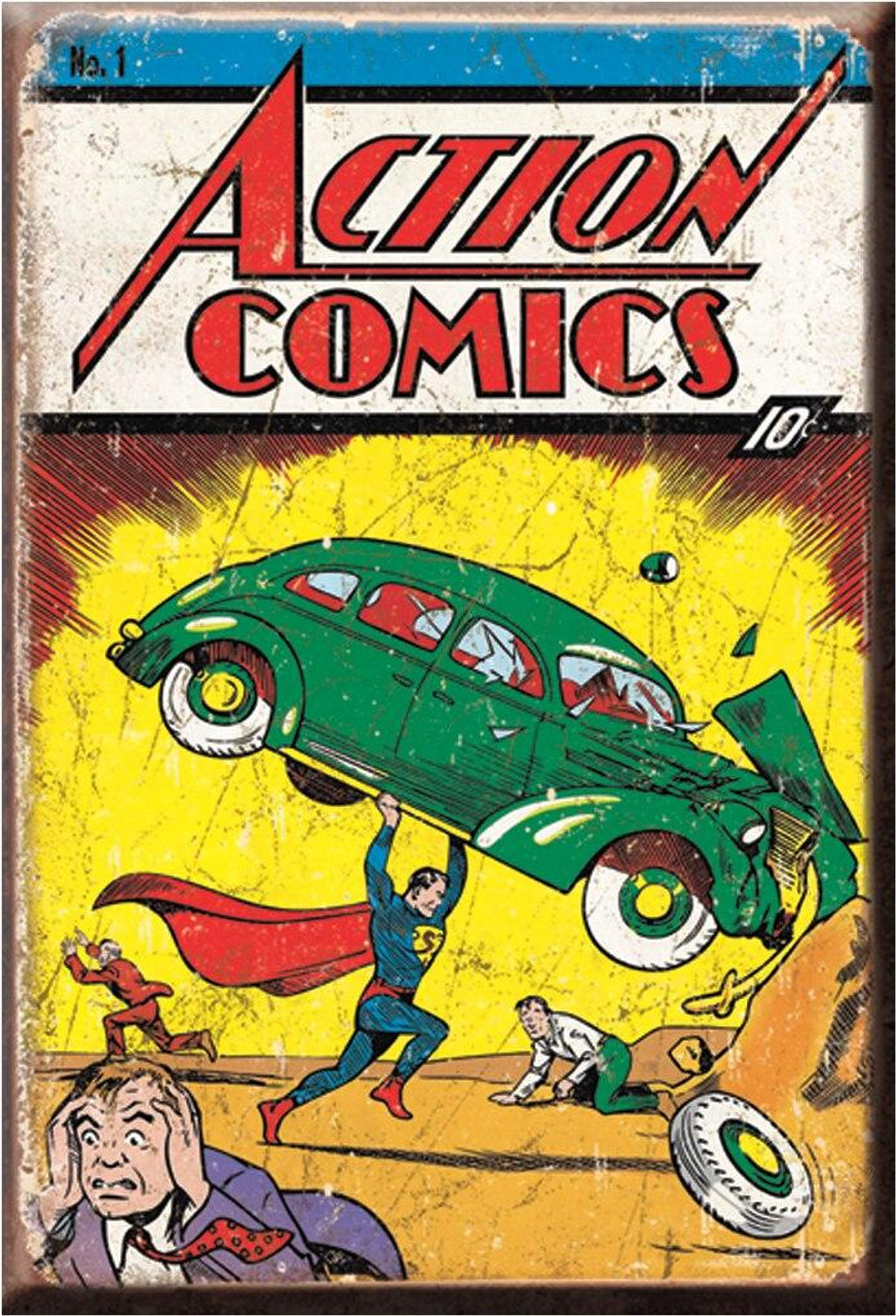 DC Comics Magnet Action Comic No1 Cover