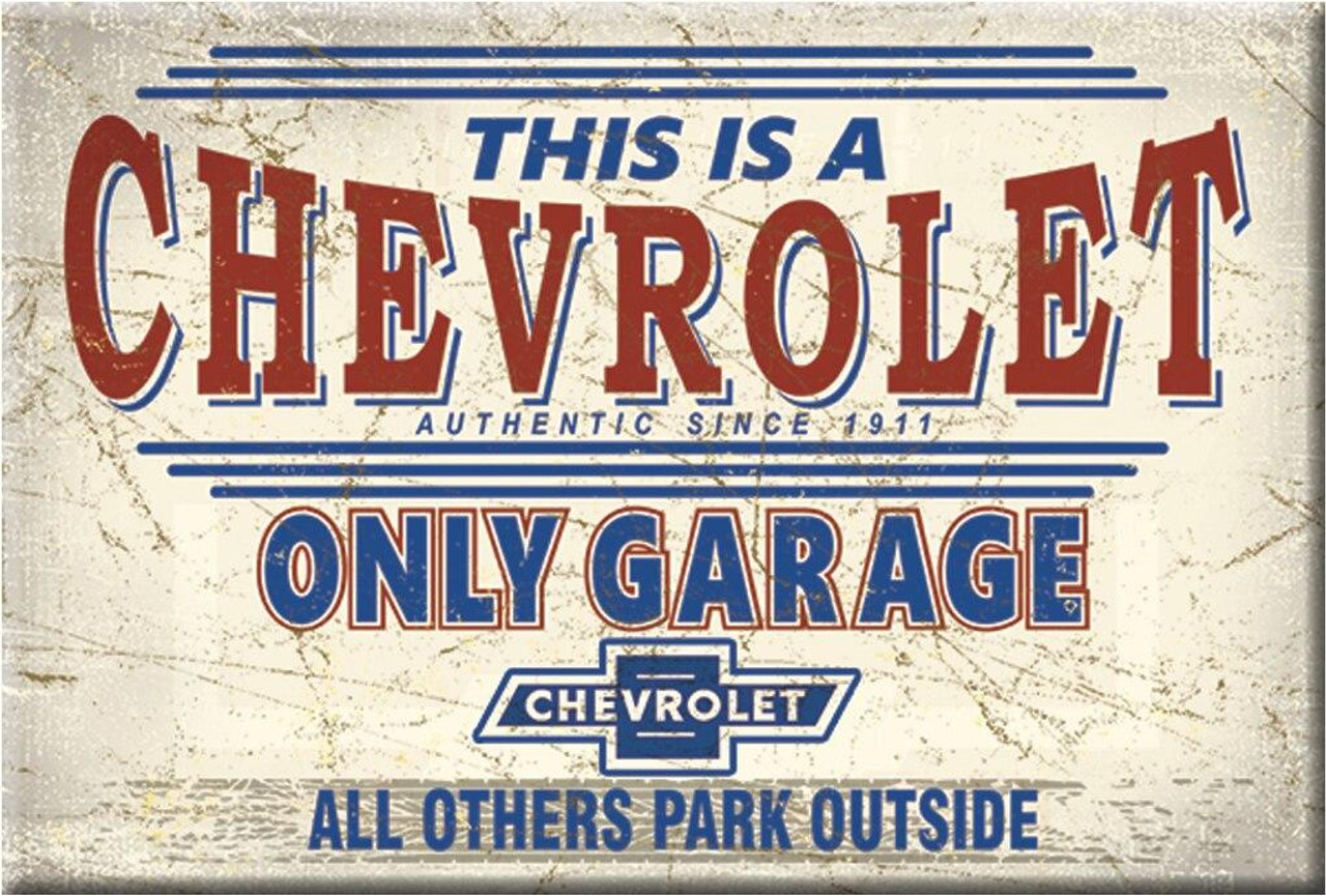 General Motors Magnet Chevy Only Garage