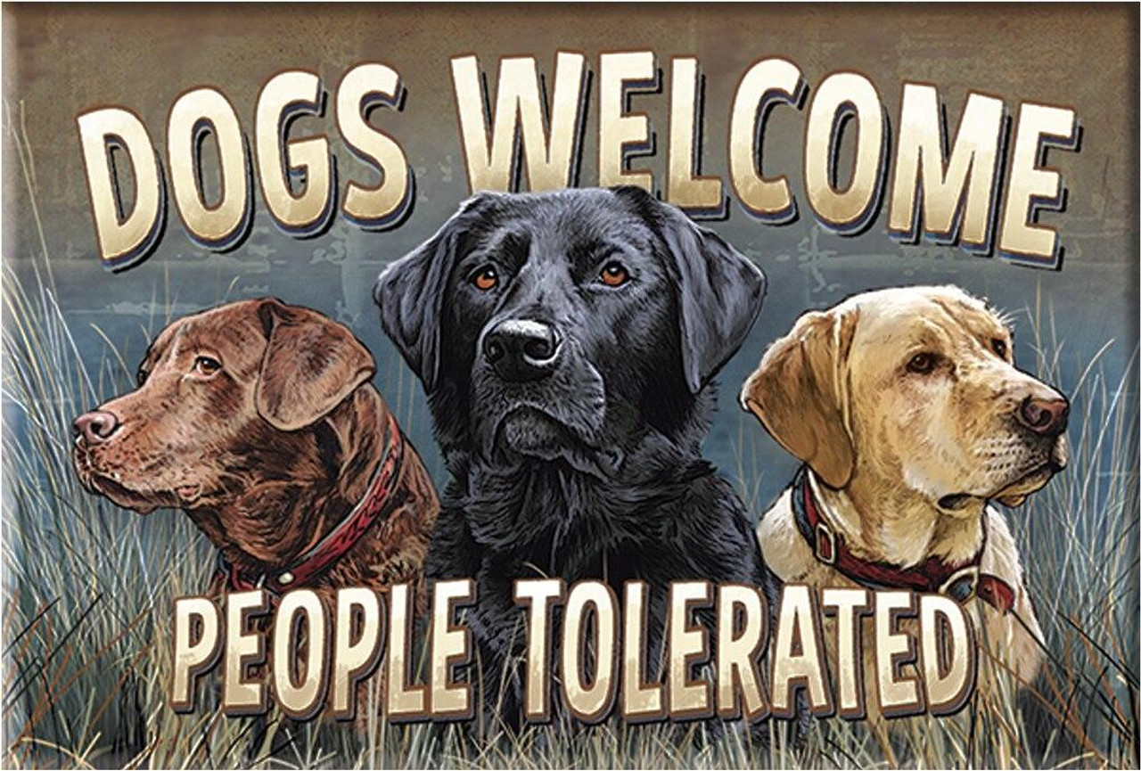 Magnet Dogs Welcome