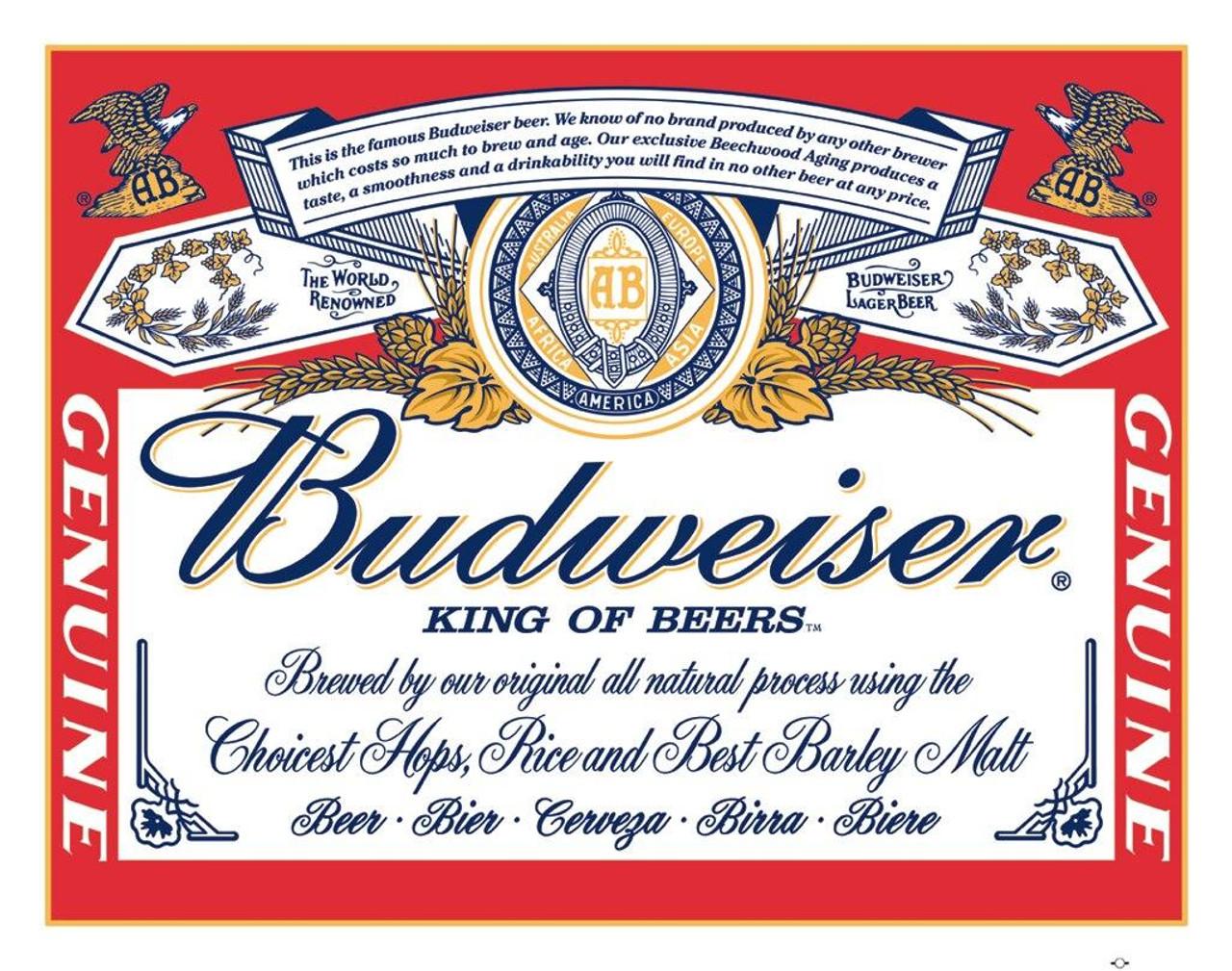 Anheuser-Busch Budweiser - Label