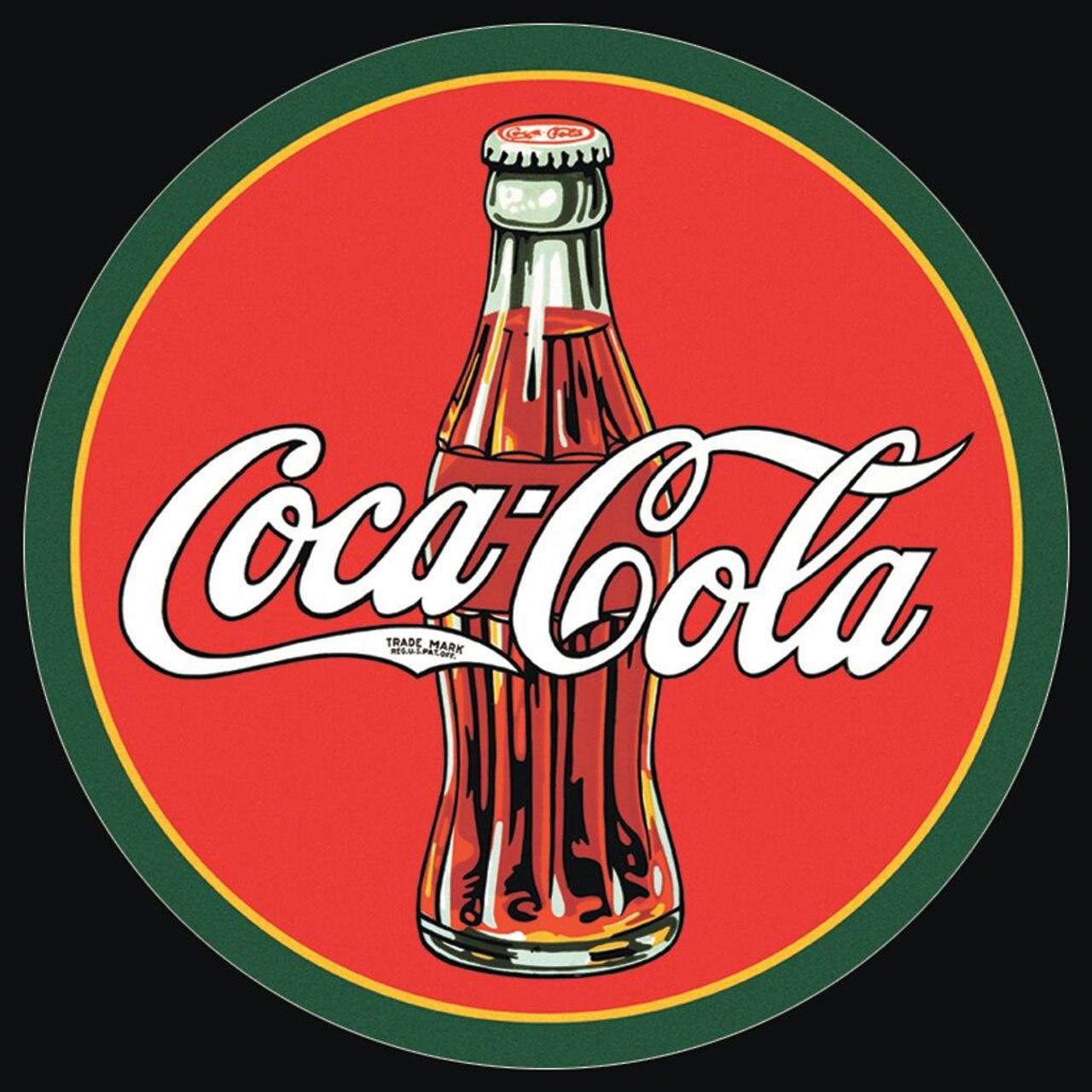 Coca-Cola COKE - Round 30s Bottle and Log