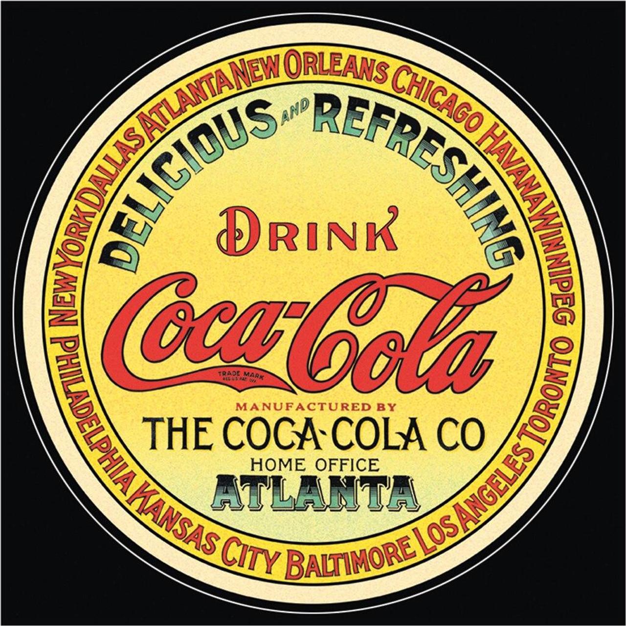 Coca-Cola COKE - Round Keg Label