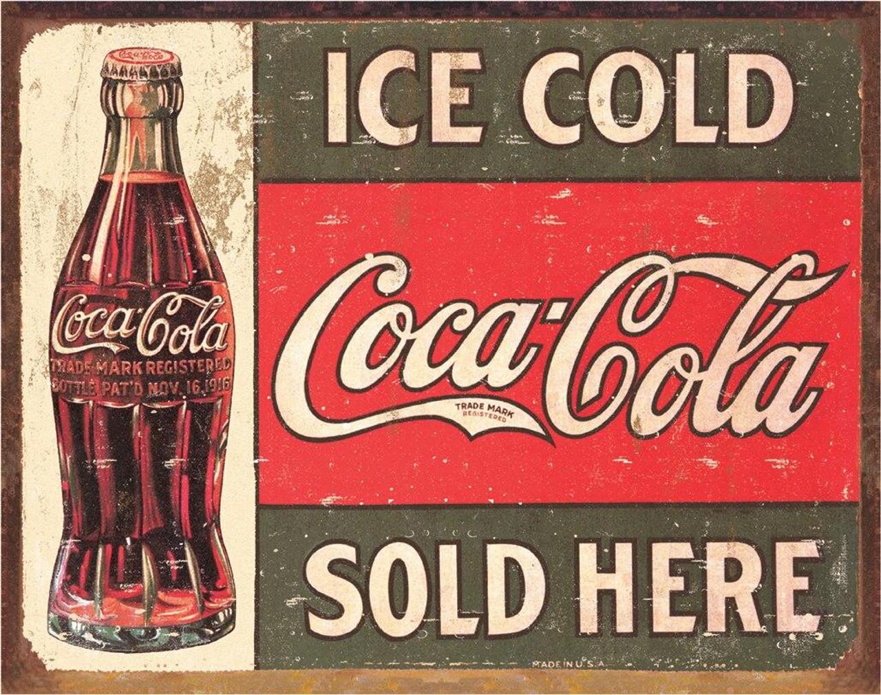 Coca-Cola COKE - c.1916 Ice Cold