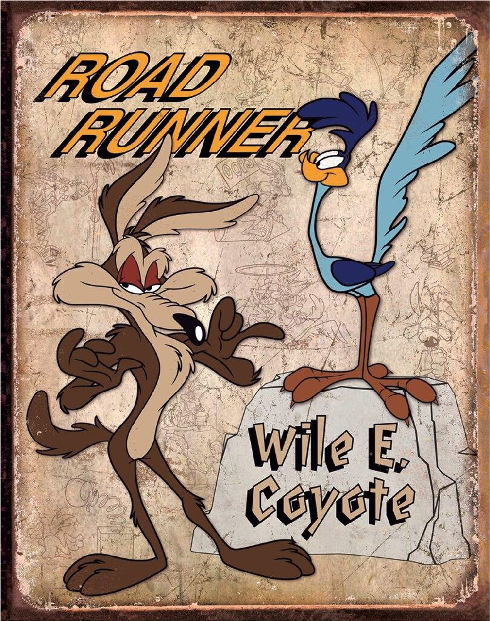 Warner Brothers Road Runner and Wyle E Coyote
