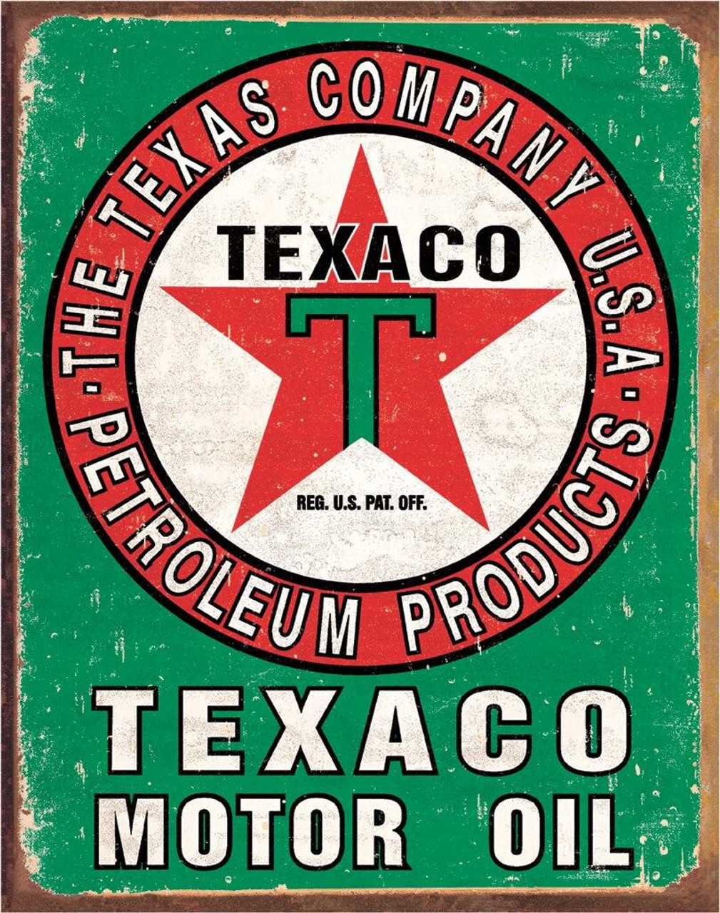 Texaco Texaco Oil Weathered